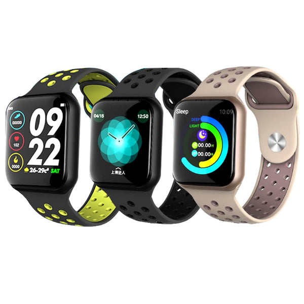 F8 / I5 / ID205 Fitness Watch Blood Pressure Color Screen Smart Watch Heart Rate Sleep Monitor Smart Band Waterproof for iOS Android