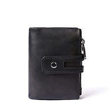 Anti-theft brush RFID head layer leather wallet Crazy horse leather leisure wallet