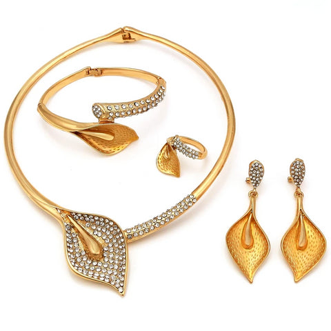 NEWS Kingdom Ma Nigerian Wedding African Beads Zinc Alloy Jewelry Sets Dubai Jewelry Sets Necklace Bracelet Earrings Ring Sets
