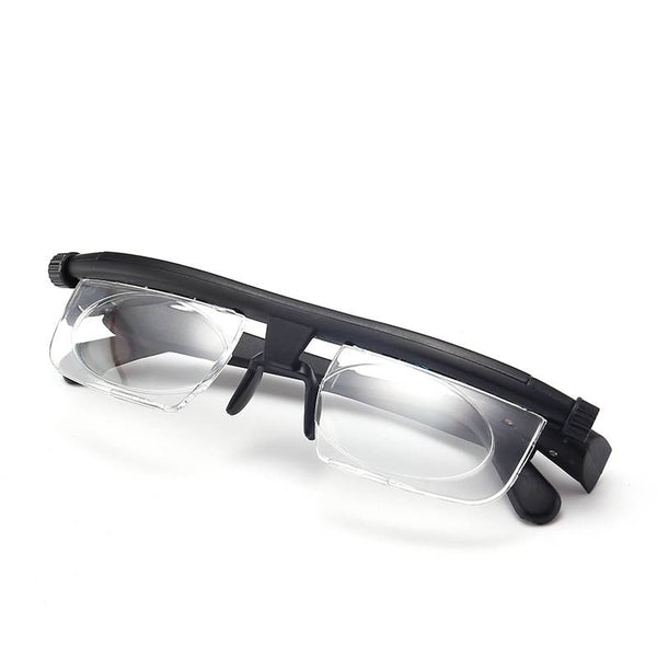 TR90 Focal Length Adjustment Reading Glasses, Adjustable -6d to +3D Degrees Myopia Reading Glasses