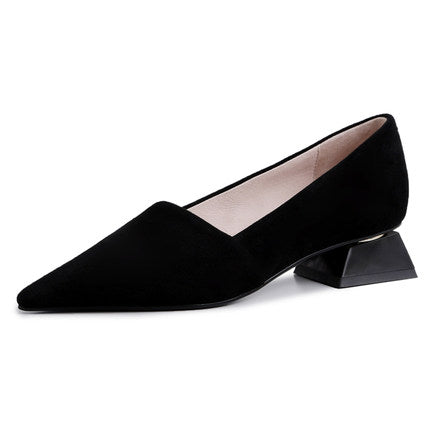 ALLBITEFO top quality soft genuine leather women heels comfortable pointed toe fashion high heel shoes ladies girls high heels