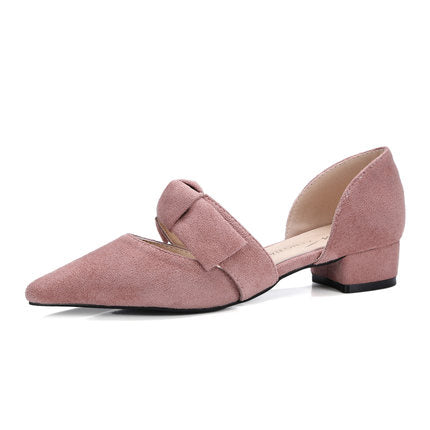 HEE GRAND 2019 Spring Women Low Square Heels Pumps for Dress Pig Suede Comfortable Elegant Styles Slip-On Ladies Shoes XWD7417