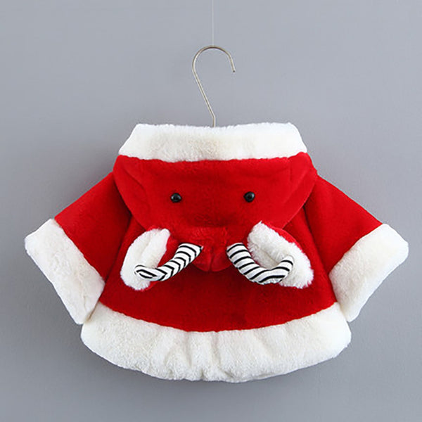 Christmas Sale Baby Windproof Cloak 0-2 Years Old Baby Cloak Infant Out Shawl Windshield Coat