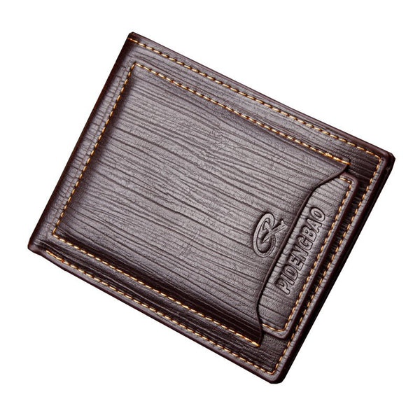 Men Fashion PU Leather Male Multifunctional Short Wallet Black Brown Coffee Slim Wallet