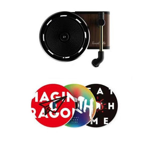 Turntable Phonograph Car Fragrance Car Air Freshener with 3pcs Aromatherapy Tablets