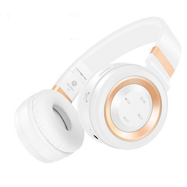 Gaming Headphones Stereo Bass HIFI Wireless with Microphone Support 32G TF Card Headset