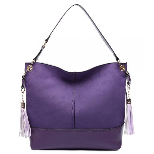 Miss Lulu High Quality Faux Frosted Leather Fashion Leisure Hobos Bag AA0008