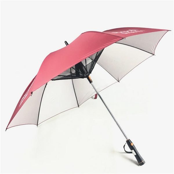 Automatic umbrella with fan