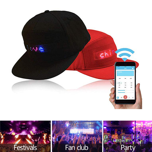 Party LED Hat Hip Hop Hats For Men Women Bluetooth Message Display Board Baseball Cap Fashion Golf Outdoor Lights Fishing hat