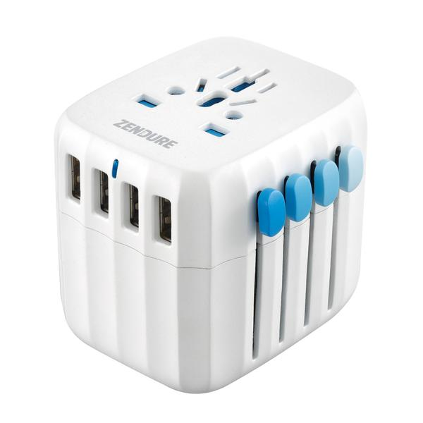Global Travel Adapter with Auto-Resetting Fuse