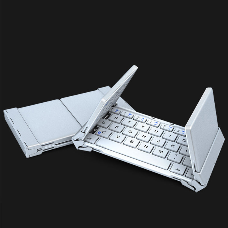 Pocket Folding Bluetooth Keyboard For Tablet For iPad 2019 Bluetooth Folding Keyboard Android Systems For Desktop Notebook