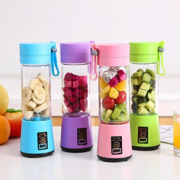 Portable Size USB Electric Fruit Juicer Handheld Smoothie Maker Blender Rechargeable Mini Portable Juice Cup Water (Influencer Recommend)
