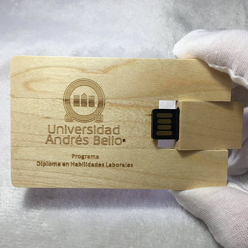 Wooden block Usb pen drive memory U disk 16GB 32GB flash drive