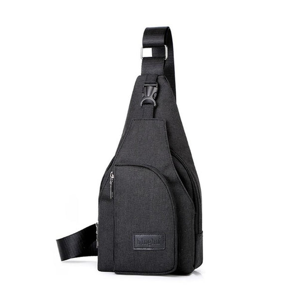 Men Sporty Outdoor Travel Oxford Fabric Sling Shoulder Crossbody Chest Bag