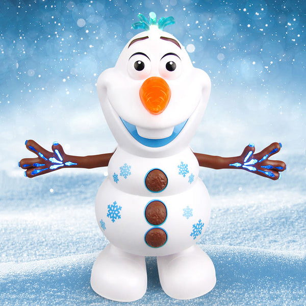Movie Dancing Olaf Action Figures Toys Electric Olaf Doll with light music Hand Dancing Machine Snowman Christmas Gift