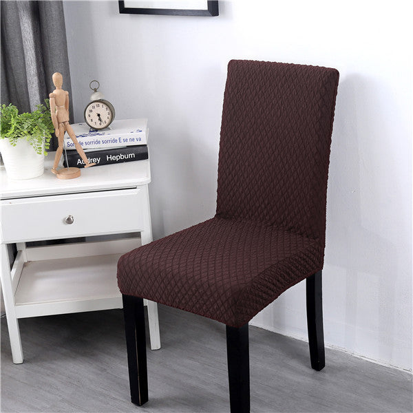 Plaid Chair Cover Spandex Elastic Dining Chair Protective Case Soft Flannel Stretch Office Thick
