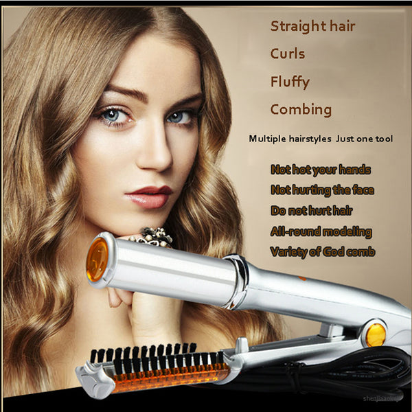 Straight Hair Curling Artifact Straight Volume Dual-use Hairdressing Tools Electric Curling Iron Home Straightening Splint 50W