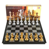 Checkers Chess Set Travel Plastic Chess Game Magnetic Chess Pieces Folding Chessboard Gift