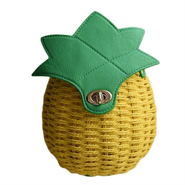 2019 Summer pastoral pineapple holiday rattan bag straw bag woven beach bag