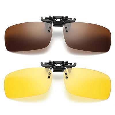 2-Pack Polarized Clip-on Sunglasses Lenses for Outdoor Walking Driving Fishing Cycling【Buy 2 Get $15 Off】