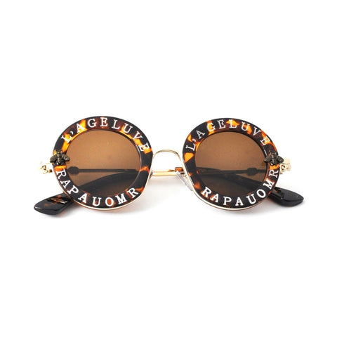 Steampunk Metal Bee Kids Sunglasses Boys Girls Luxury Vintage Children Sunglasses Round Sun Glasses Oculos Feminino Accessories