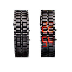 Digital wristwatches LED light electronic male female clock fashion casual couple bracelet