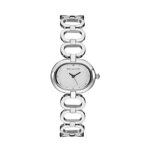 Oval Shape Diamond Watch With Hollow Bracelet