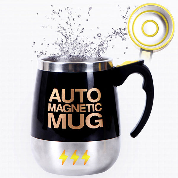 Coffee mug Stainless Steel Magnetic Self Stirring Automatic Cover Milk Mixing Mugs Electric Lazy Smart shaker Coffee Cup