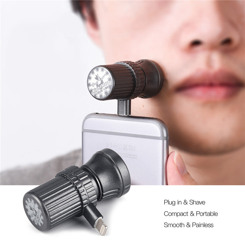 【BUY 1 GET 1 FREE】Electric Shaver Razor Travel Shaver Portable Mini Magnetic Suction Phone Razor Suitable for Android
