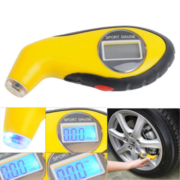 High Precision Digital Electronic Wheel Pressure Gauge Tire Gauge Portable Car Tire Pressure Gauge Car Accessories With Blue LED