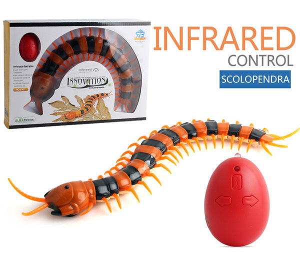 (20% OFF)Cat Toy Halloween Gift Electric Centipede Simulation Animal Insect Infrared Remote Control Centipede Creative Electric Tricky Funny Cat Toy