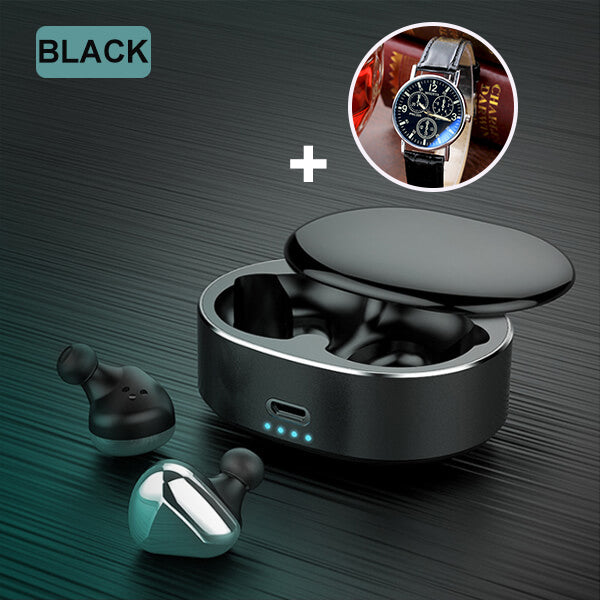 【Free Gift: Watch】T50 Wireless Automatic Durable Touch Control Bluetooth Earphone