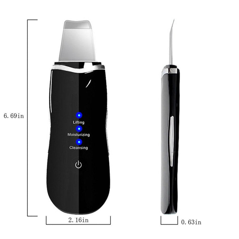 【extra 10% off】Ultrasonic Face deep Cleaning Machine Skin Cleaner Peeling Remove Blackhead Pore