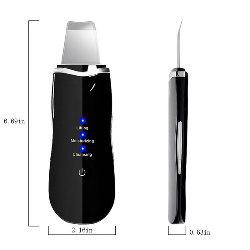 Ultrasonic Face deep Cleaning Machine Skin Cleaner Peeling Remove Blackhead Pore