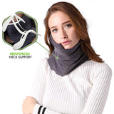 Airplane Travel Neck Pillow Portable No Inflatable Travel Sleep Support Pillow Comfortable For Car Office Sleep Head Rest