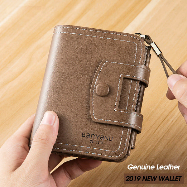 2019 new fashion Women's and Man's 'wallet PU wallet Multi-function buckle zip coin purse wallet
