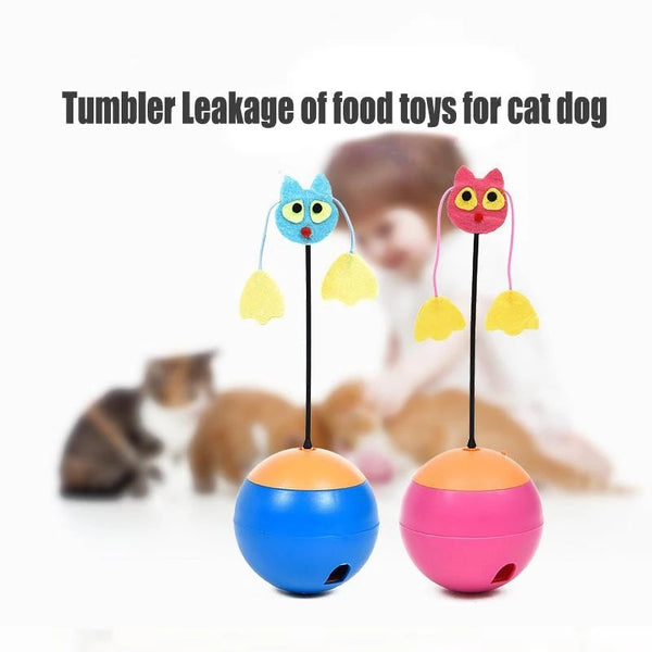 Electric new tumbler feeding toy Multifunctional laser pet cat toy pet supplies