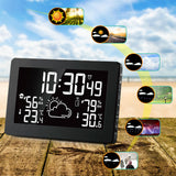 Wireless Weather Station Temperature Humidity Sensor Colorful LCD Display Weather Forecast RCC Clock In/outdoor Digital Thermometer