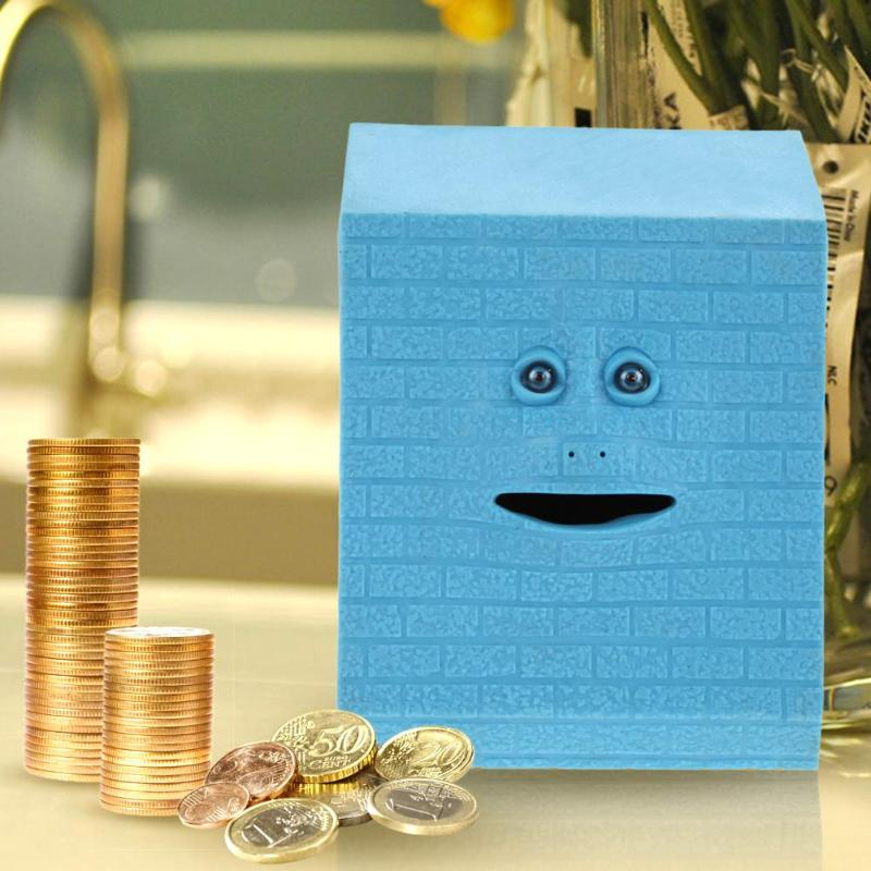 Face Money Eating Box Automatic Saving Bank Chewing Piggy Bank Cat Safe Box Savings Money for Children Candy Machine