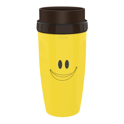 Uncovered twist cup neolid hand straw cup portable creative plastic Cartoon double-layer cup for Children/Adults