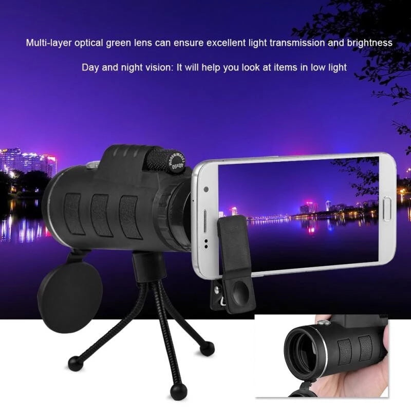 6pcs set 50x60 high magnification list binoculars portable photo stand Universal Clip Telephoto Lens