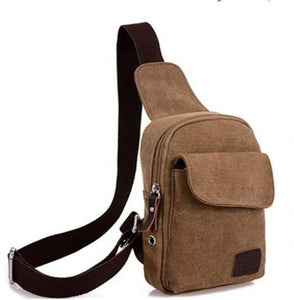 Korean Leisure Chest Pack Movement canvas Small Satchel Crossbaody Bag For Men
