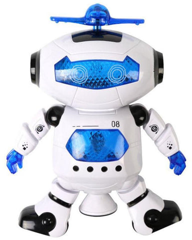 Dancing Robot, Dancing Electric 360 Degree Stunt Rotating Dynamic Sound And Light Intelligent Robot