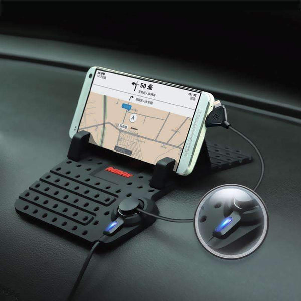 Car Mobile Phone Stand Holder USB Connector Magnetic - Antiskid Silicon And Fast Charging