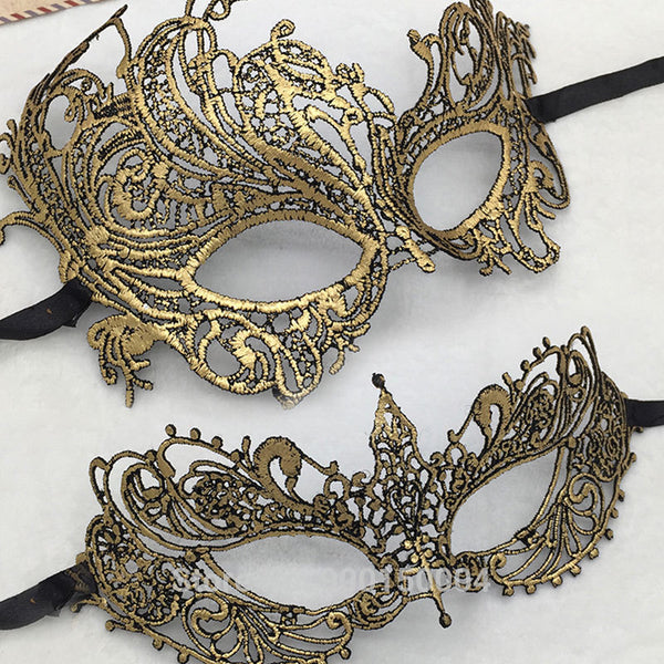 Gold Eye Mask For Party Mask Venetian Carnival Mask Masquerade Mardi Gras Lace Masks Ball Halloween Dress Sexy Costume Masque
