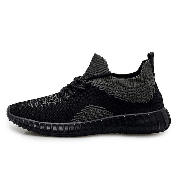 QWEDF Men Sneakers Breathable Casual No-slip Men Vulcanize Shoes Male Mesh Lace up Wear-resistant Shoes tenis masculino Z3-32