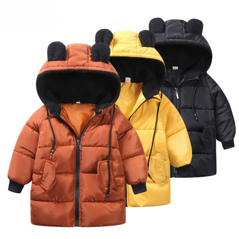 80-130 Cm Girls Jackets Kids Boys Coat Children Winter Outerwear Coats Casual Baby Girls Clothes Winter Parkas Kids Jacket