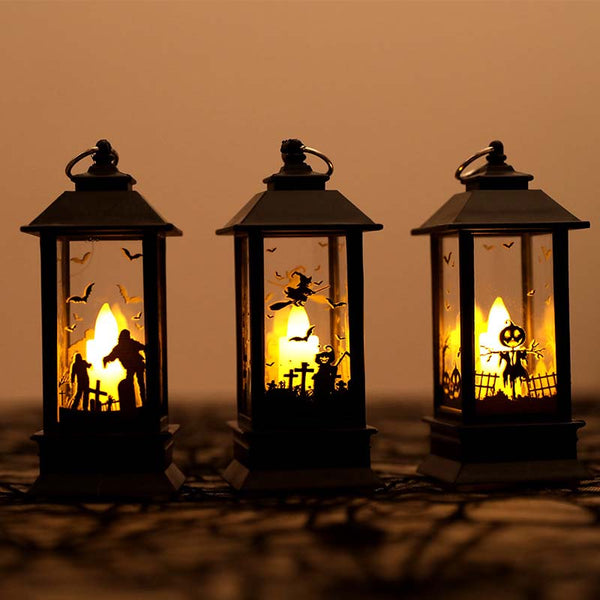 Electric Halloween Candle Lamp LED Candle Simulation Flame Light Small Oil Candle Lamp Light for Halloween Party Decoration