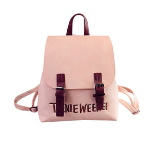 Mini Backpack Women Fashion Wild Bag Student PU Leather Shoulder School Bag For Girls Female Fashion Ladies