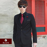(Suit + vest + pants  + shirt) Luxury Men Wedding Suit Male Blazers Slim Fit Suits For Men Costume Business Formal Party Blue Classic Black